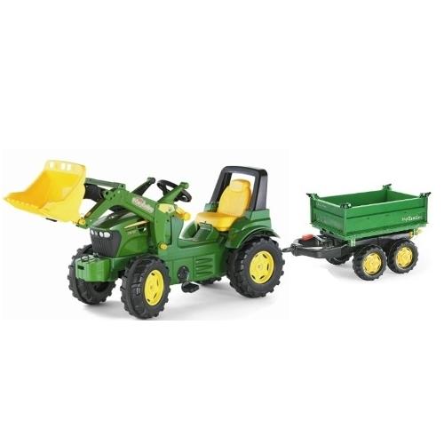 Tractor a pedales John Deere 7930- remolque Megatrailer-710027-122004-Rolly toys-Agridiver