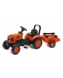 Tractor a pedales Kubota M7171 con remolque