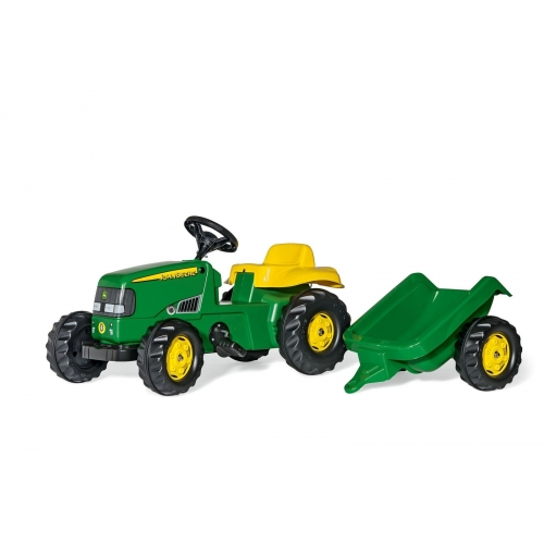 Tractor a pedales John Deere Rollykid con remolque-012190-Rolly Toys