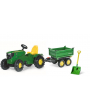 Tractor a pedales John Deere-Remolque Megatrailer -601066-122004-Rolly Toys -Agridiver