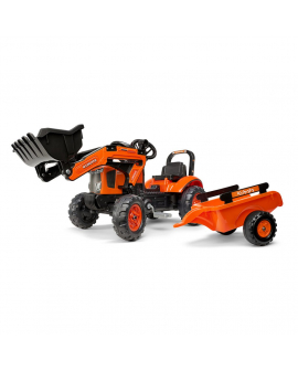 Tractor-pedales-Kubota-M7171-con-pala-remolque-2065AM-Falk-Agridiver