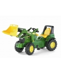 Tractor a pedales John Deere 7930 con pala frontal. Rollyfarmtrac P.