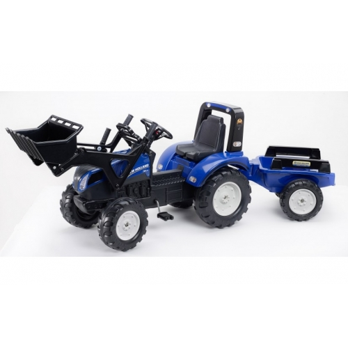 Tractor-pedales-New-Holland-T8-remolque-3090M-falk-agridiver-azul