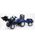 Tractor a pedales New Holland T8 con remolque