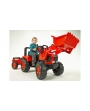 Tractor a pedales Kubota M135GX con pala y remolque-2060AM-Falk-Agridiver